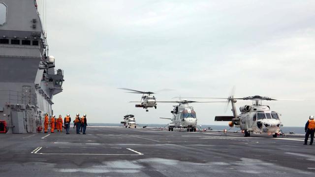 救灾心切!日直升机航母派遣直升机前往台风灾区侦察