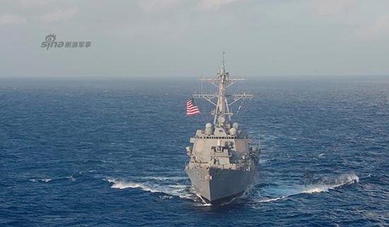 资料图:美军拉森号巡航南海