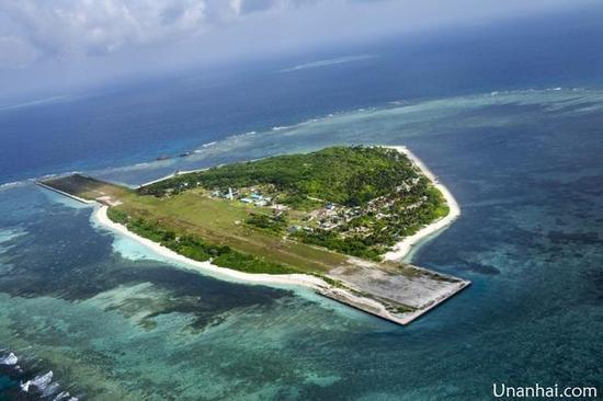资料图:南沙中业岛2013年航拍图。