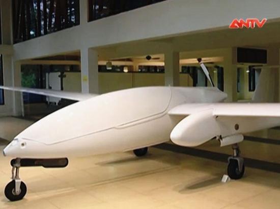 越南电视台播放的HS-6L无人机画面