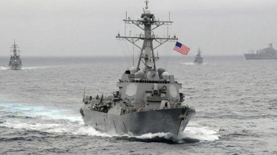 美国海军拉森号导弹驱逐舰