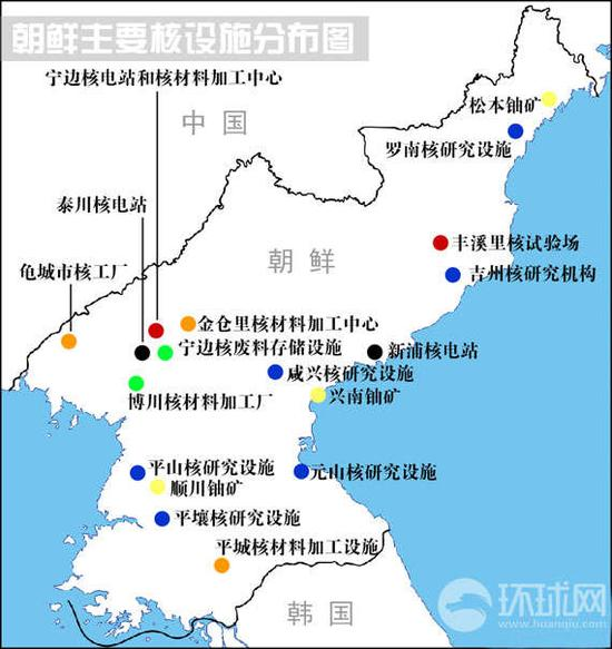 朝鲜核设施发布图