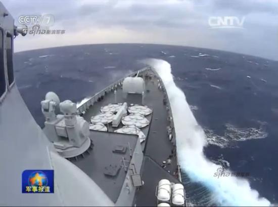 中国海军三大舰队集结南海演习