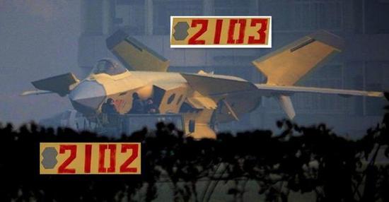 从目前国外媒体报道,量产型歼-20战斗机目前除了曝光的2101、2102、2103号机,应该还有2104、2105、2106、2107、2108号正在进行最后的组装。