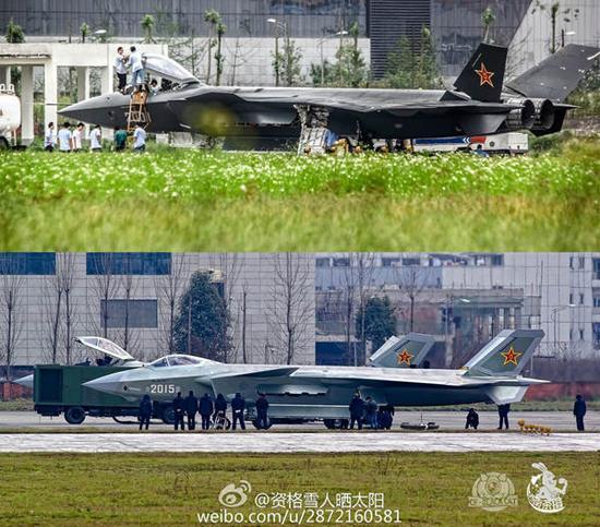 大改前后的歼-20对比照,从2011号歼-20开始,仅在外观上就有不少新变化。
