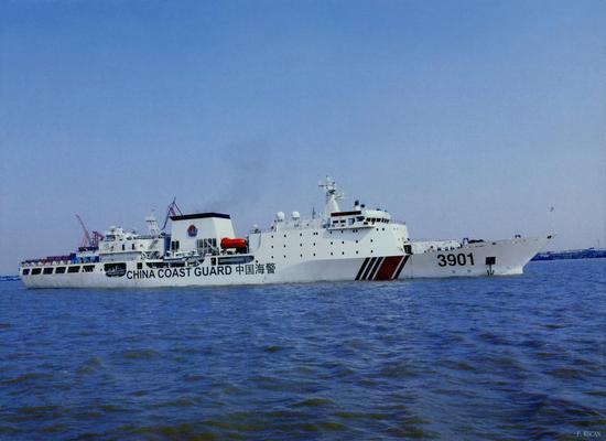 资料图:中国万吨海警船