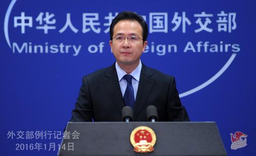洪磊在外交部例行记者会上
