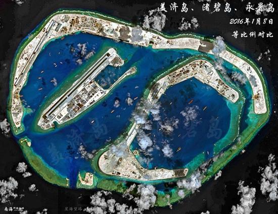 南沙八岛等比例图