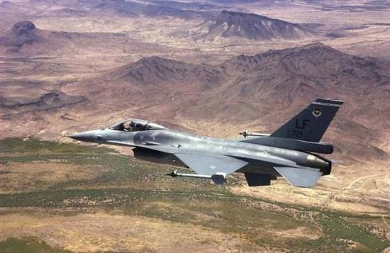 """被编入美国空军65联队21中队的台湾""""空军""""F-16战斗机"""