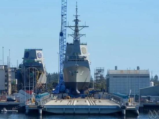 """澳大利亚""""宙斯盾""""驱逐舰下水"""