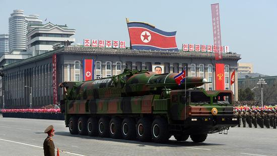 资料图:朝鲜远超导弹