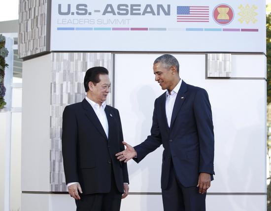美国总统奥巴马会见越南总理阮晋勇