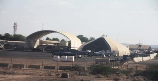 资料图片:美军在吉布提的军事基地。