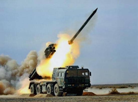 兵工集团出口型火箭炮系统作战示意图,在无人机的支援下,各种口径的火箭炮可以实现合同作战