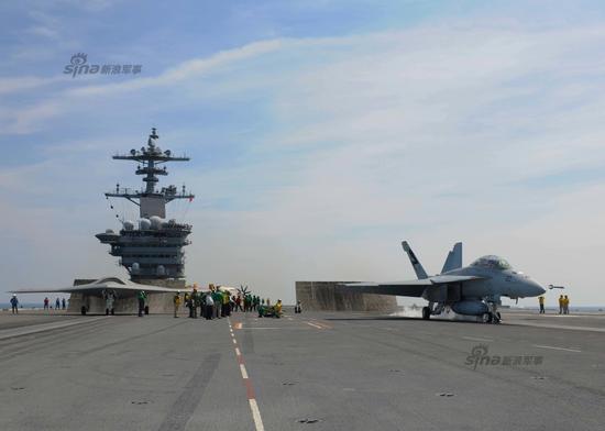 2014年8月17日,美国海军X-47B无人战机再次进行试飞任务。当日,X-47B从美国海军西奥多-罗斯福号航母(CVN-71)上弹射升空,完成了一系列飞行测试。在试飞期间,X-47B首次演示了与一架F/A-18F超级大黄蜂有人驾驶战机共同编队飞行。
