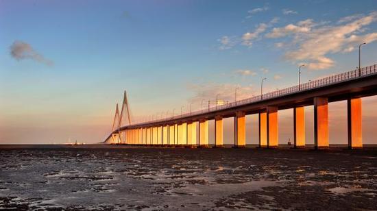 壮观的杭州湾大桥