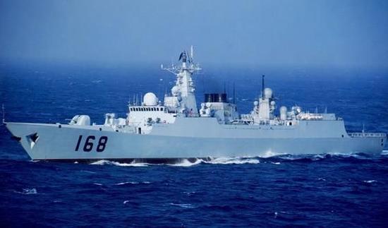 """""""广州""""号导弹驱逐舰"""