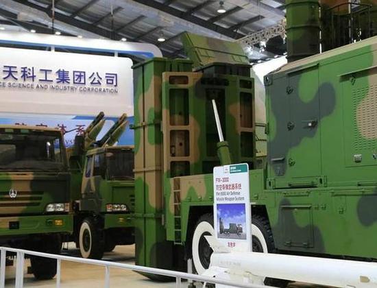 FM-3000防空系统的导弹体积和重量比较小巧,增加了载弹量