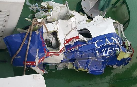 失踪海警船CaSa-212飞机的残片(图片来源:越通社)