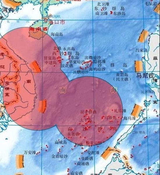 图片:越南C-212-400海上巡逻机的侦察范围。