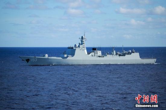 """资料图:153""""西安""""舰"""