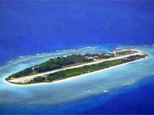 太平岛航拍图