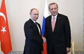 资料图:俄罗斯总统弗拉基米尔·普京与土耳其总统塔伊普·雷杰普·埃尔多安