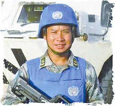 陆军第20集团军某团战士,四级军士长,3次获联合国和平荣誉勋章