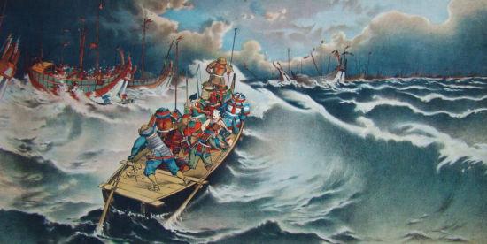 日本浮世绘:蒙古袭来