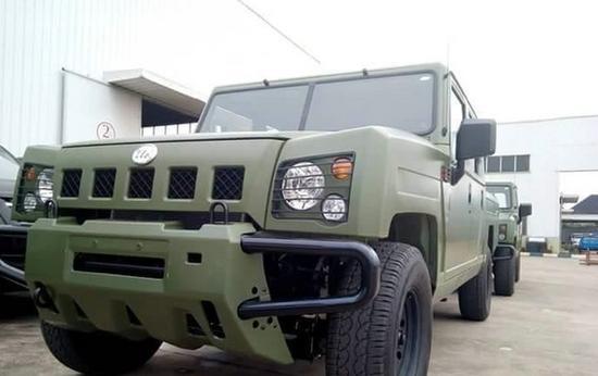 尼日利亚版勇士军车正式交付。