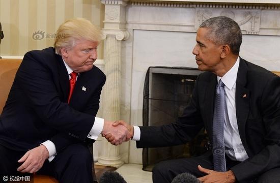 资料图:特朗普与奥巴马
