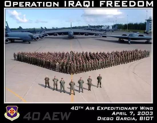 伊拉克战争期间,美军三大轰炸机轮番从迪戈加西亚出发参战。