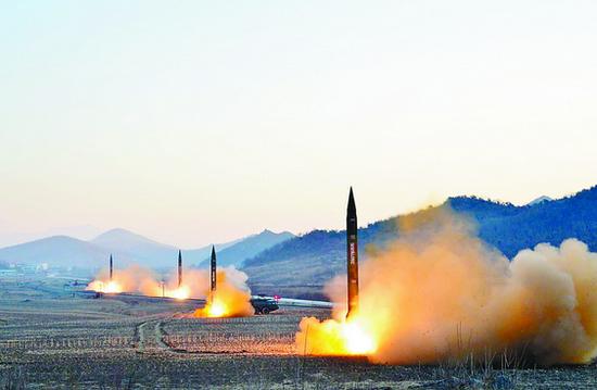 萨德可能也防不住?美称朝鲜可同时发射36枚导弹