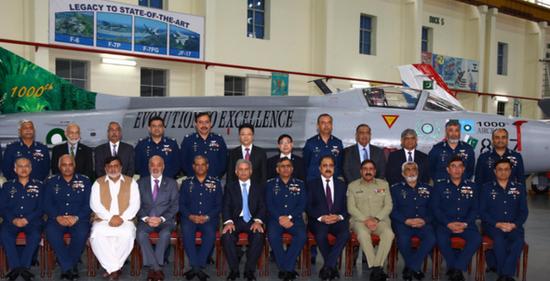 巴基斯坦航空工业公司庆祝完成第1000架战斗机大修仪式