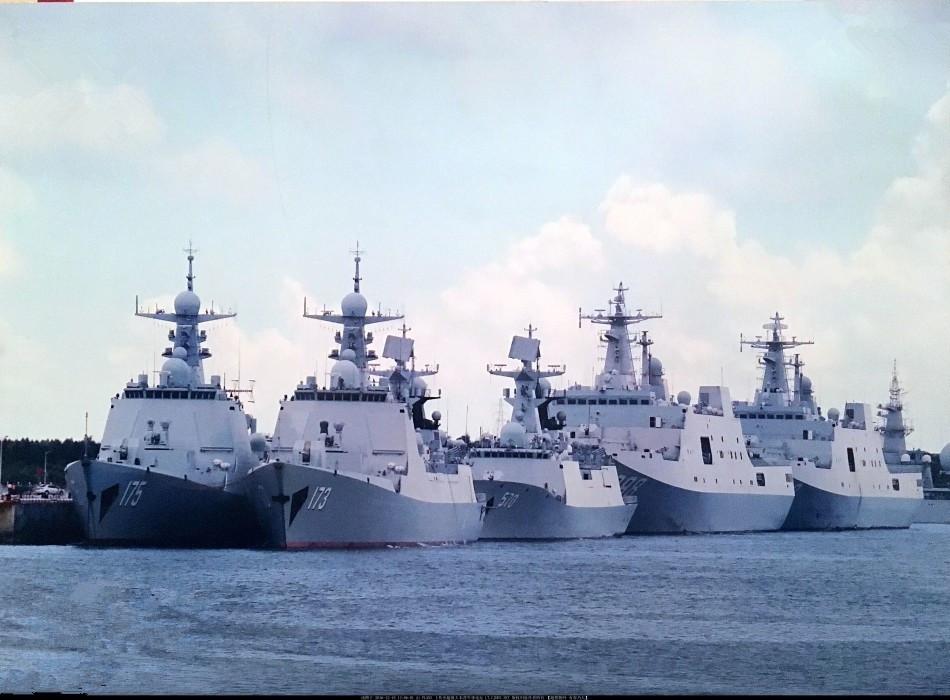 资料图:中国海军新型军舰