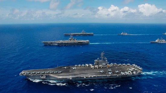 美三个航母编队将齐聚中国周边 11年来首次意欲何为