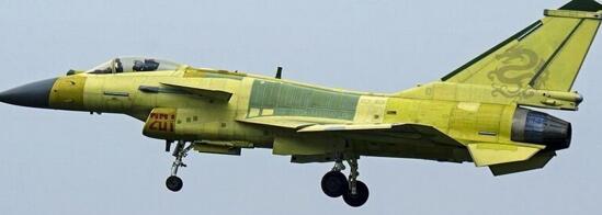 图为黄皮歼10C战斗机