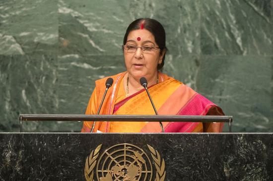 印度外长在联大发言时尖刻指责