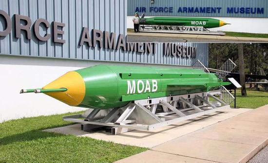 """GBU-43巨型炸弹有""""炸弹之母""""之称"""