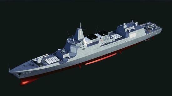 目前最贴近事实的055舰设想图