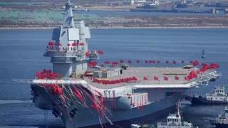 中国海军靠双航母加12艘神盾舰跃居第2