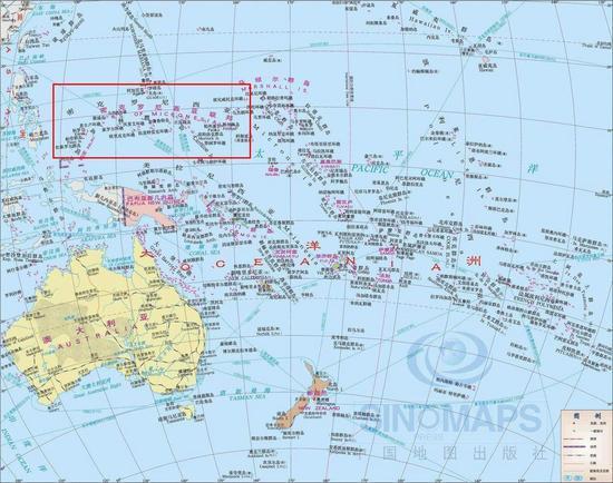 密克罗尼西亚位置示意图