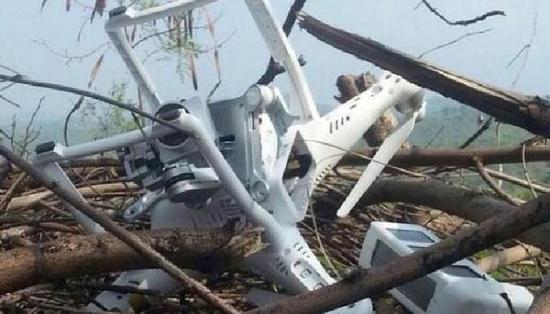 资料图:巴基斯坦击落一架印度军队的无人机