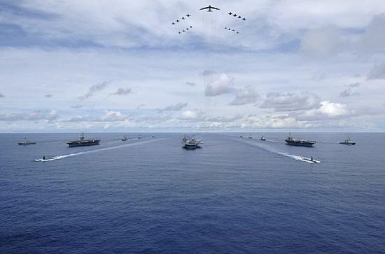 """07年""""英勇盾牌""""演习时期的照片,被第七舰队又拿出来显摆"""