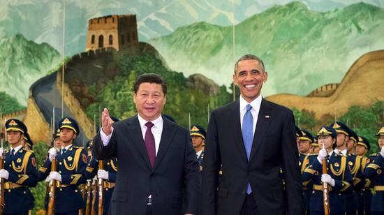 2014年奥巴马访华欢迎仪式