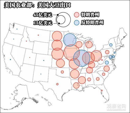 (美国大豆产业分布)