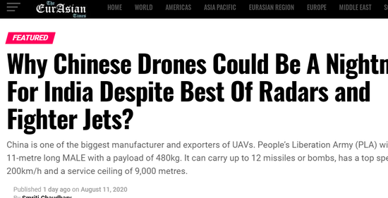 """印媒:巴基斯坦购翼龙2无人机可能会成为印度""""噩梦"""""""
