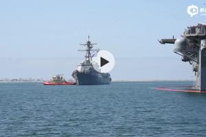 曾闯台湾海峡!美军约翰芬恩号驱逐舰返回圣迭戈基地