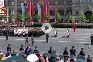多视角回顾中国人民解放军仪仗队亮相俄罗斯红场阅兵
