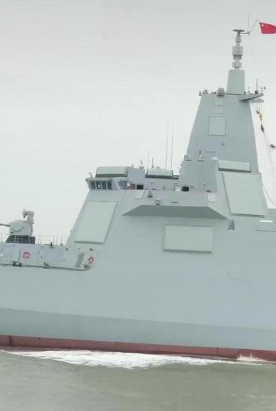 055二号舰试航又被拍到 中国下代大驱或在研制